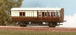 Parkside Models by Peco OO PC613 GWR 4 Wheel Brake 3rd
