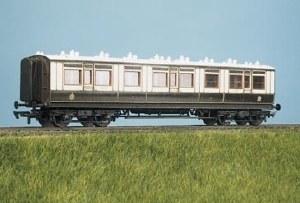 Parkside Models by Peco OO PC730 LMS ex LNWR Arc Roof Corridor All 3rd