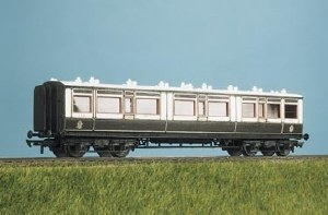 Parkside Models by Peco OO PC732 LMS ex LNWR Arc Roof Corridor Composite