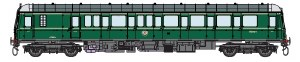 Dapol O 7D-015-005 Class 122 55004 BR Green with Speed Wiskers