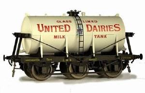Dapol O 7F-031-000 6 Wheel Milk Tanker United Dairies