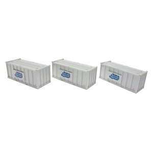Accurascale OO ACC2255GYPA Pack of 3 Gypsum 20' Containers - White Containers