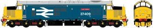 Accurascale OO ACC230837409DCC Class 37/4 37409 'Lord Hinton' BR Blue (Large Logo)