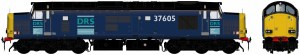 Accurascale OO ACC231237605DCC Class 37/6 37605 DRS Blue