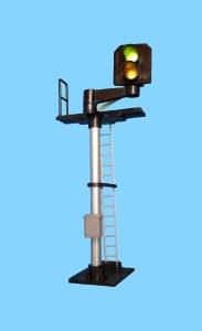 Berko OO B223R 2 Light Signal Yellow/Green Standard Offset Square Head RH