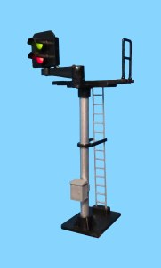 Berko OO B242L 2 Light Signal Red/Green Standard Offset Square Head LH