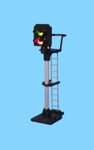 Berko OO B301 2 Light Signal Red/Green Platform Starter Square Head