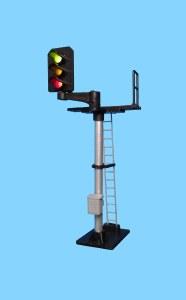 Berko OO B551L 3 Light Signal Red/Green/Yellow Standard Offset Square Head LH