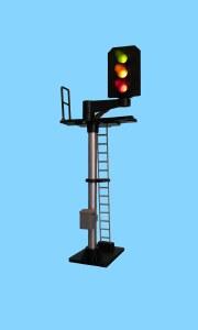 Berko OO B551R 3 Light Signal Red/Green/Yellow Standard Offset Square Head RH