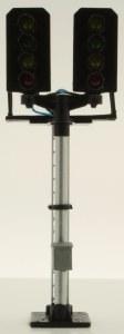 Berko OO B644 4 Light Signal Red/Green/2yellow T Junction Square Head