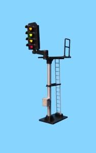 Berko OO B664L 4 Light Signal Red/Green/2 Yellow Standard Offset Square Head LH