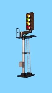 Berko OO B664R 4 Light Signal Red/Green/2 Yellow Standard Offset Square Head RH