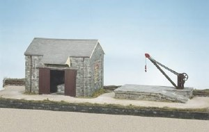 Wills Kits OO CK15 Goods Shed Loading Bank and Crane