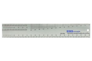 DCC Concepts OO DCG-SR4 Stainless Steel Scale Ruler and Handrail Jig