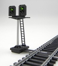 Train Tech OO DS6 Dual Head Home Signal