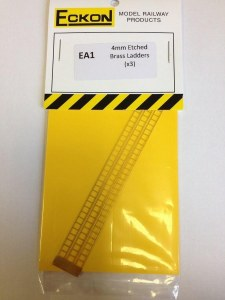 Eckon OO EA1 4mm Etched Brass Ladder x 3
