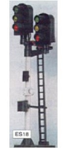 Eckon OO ES18 3-3 Aspect Home Junction Signal Kit Round Head