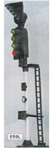 Eckon OO ES9L 4 Aspect Section Signal with RT Indicator LH Round Head