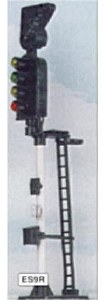Eckon OO ES9R 4 Aspect Section Signal with RT Indicator RH Round Head
