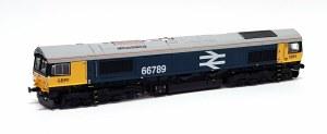 Gaugemaster OO GM2210101 GBRf Class 66789 'British Rail 1948-1997' Large Logo Blue