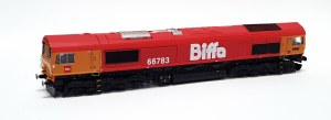 Gaugemaster OO GM2210102 GBRf Class 66783 'The Flying Dustman' Biffa Livery