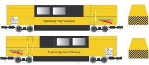 Gaugemaster N GM2250101 Track Cleaning Vehicle Network Rail Yellow