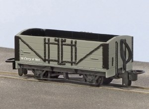 Peco OO9 GR-200U Open Wagon Grey with No Lettering