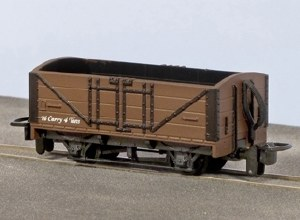 Peco OO9 GR-201U Open Wagon Brown with No Lettering