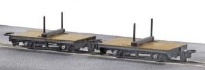 Peco OO9 GR-310 4 Wheel Bolster Wagon pack of 2