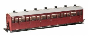 Peco OO9 GR-440U Lynton and Barnstaple Railway All Third Coach Indian Red Un-numbered
