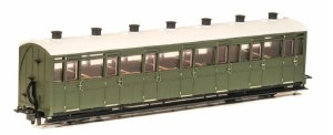 Peco OO9 GR-441U Lynton and Barnstaple Railway All Third Coach  Green Un-numbered