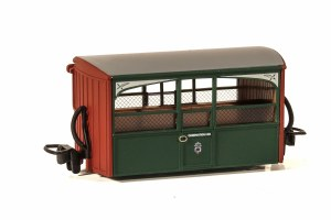 Peco OO9 GR-561 Ffestiniog Railway 'Bug Box' 4 Wheel Coach Early Preservation Livery, 'Zoo Car'