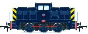 Golden Valley Hobbies OO GV2015 Janus 0-6-0 Diesel Port of London No 201