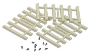 Peco Other IL-121 Moulded Concrete Type Sleepers and separate rail fixings