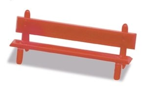 Peco OO LK-26 Platform Seats red