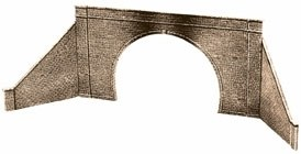 Peco OO LK-32 Tunnel Mouth and Walls stone type double track