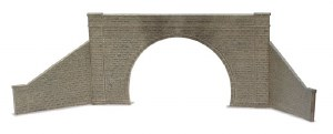 Peco O LK-732 Tunnel Mouth and Walls stone type double track