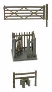 Peco OO LK-86 2 Field Gates 2 Stiles and 1 Wicket Gate