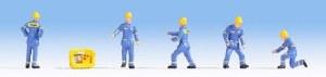 Noch OO 15025 THW Technical Aid Agency Figure Set (5) (HO Scale)