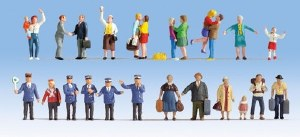 """Noch OO 16121 """"At The Station"""" XL Figure Pack (24) (HO Scale)"""