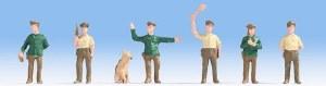Noch OO 18000 Hobby Figures - German Police Officers Figure Set (6) (HO Scale)