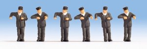 Noch N 36281 Steam Locomotive Drivers Figure Set (6)