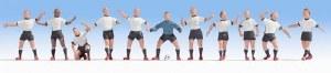 Noch N 36965 Football Team White/Black/Black Figure Set (11)
