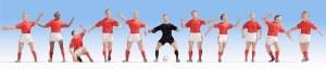 Noch N 36967 Football Team Red/Red/Red Figure Set (11)