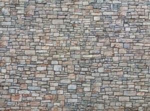 Noch OO 56640 Quarrystone Wall 3D Cardboard Sheet 25 x 12.5cm