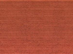 Noch OO 56690 Plain Red Tile 3D Cardboard Sheet 25 x 12.5cm