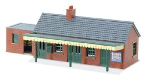 Peco N NB-12 Country Station Building brick type