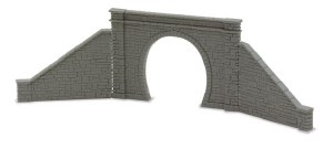 Peco N NB-31 Tunnel Mouth and Walls stone type single track