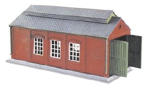 Peco N NB-5 Engine Shed brick built type