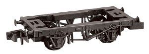 Peco N NR-119 9ft Wheelbase Wagon Chassis with Wooden Type Solebars and Spoke Wheels
